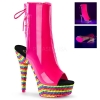 DELIGHT-1018RBS Neon Hot Pink/Multi Rhinestone